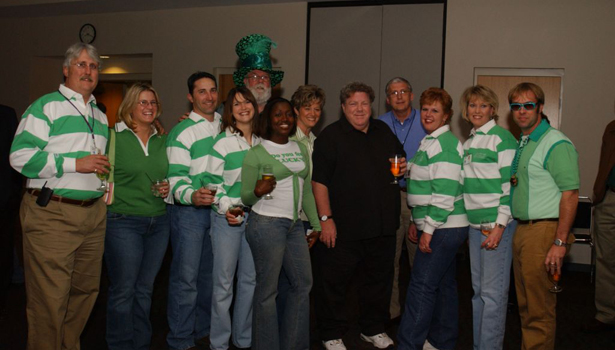 George Wendt with parade staff